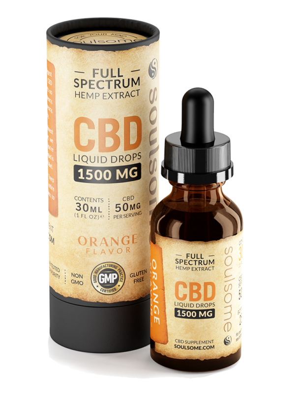 soulsome cbd liquid orange 1500mg